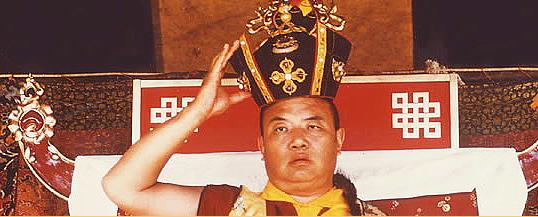 Den 16 Karmapa med den svarta kronan